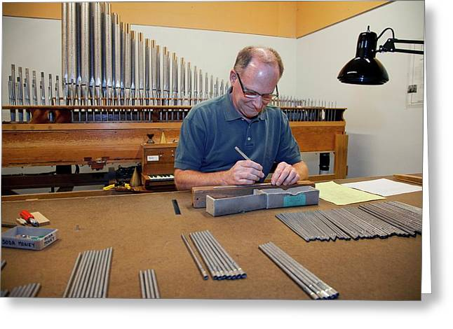 Pipe Organ Factory Greeting Card by Jim West