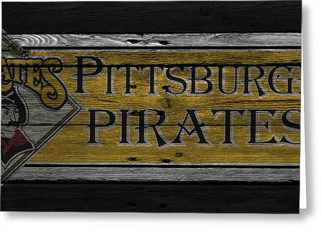 Pittsburgh Greeting Cards - Pittsburgh Pirates Greeting Card by Joe Hamilton