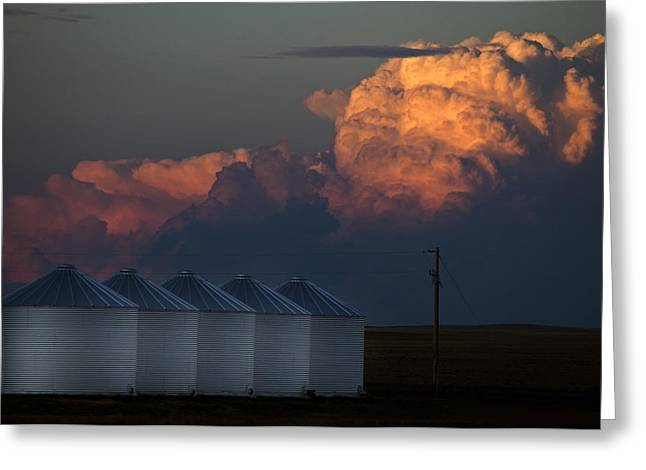Thunderstorm Greeting Cards - Prairie Storm Clouds Greeting Card by Mark Duffy