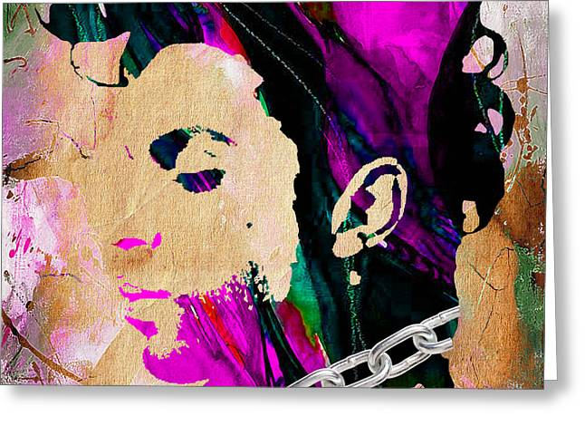 Prince Greeting Cards - Prince Collection Greeting Card by Marvin Blaine