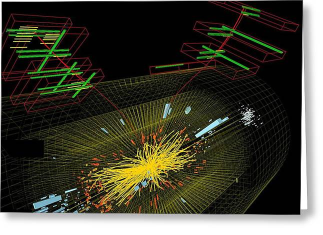 Large Hadron Collider Greeting Cards - Proton collision Greeting Card by Science Photo Library