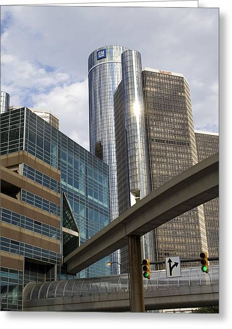 Renaissance Center Greeting Card by Gary Marx