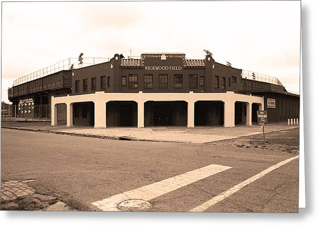 Baseball Photographs Greeting Cards - Rickwood Field Greeting Card by Frank Romeo