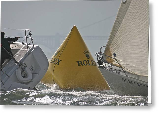 Pier 39 Greeting Cards - Rolex Regatta Greeting Card by Steven Lapkin