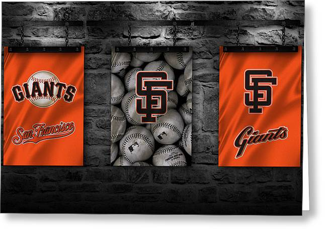 San Francisco Giants Greeting Cards - San Francisco Giants Greeting Card by Joe Hamilton