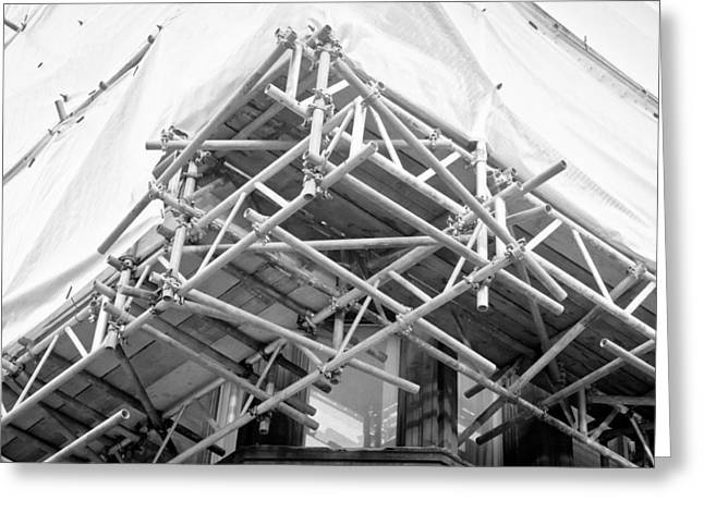 Craftsman Greeting Cards - Scaffolding Greeting Card by Tom Gowanlock