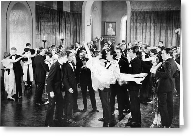Most Popular Photographs Greeting Cards - Silent Film Still: Parties Greeting Card by Granger