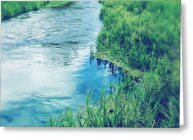 Water Flowing Greeting Cards - Spring water Greeting Card by Les Cunliffe