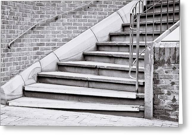 Stepping Stones Greeting Cards - Stone steps Greeting Card by Tom Gowanlock