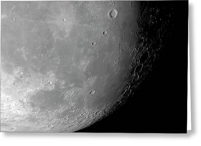 Surface Of The Moon Greeting Card by Detlev Van Ravenswaay