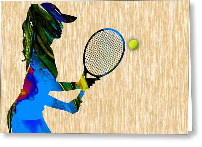 Womens Tennis Greeting Cards - Tennis Greeting Card by Marvin Blaine