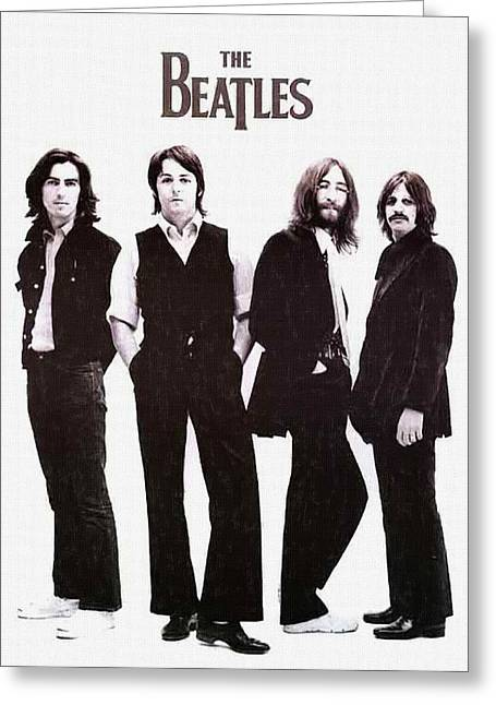 Live Music Digital Art Greeting Cards - The Beatles Band Greeting Card by Victor Gladkiy
