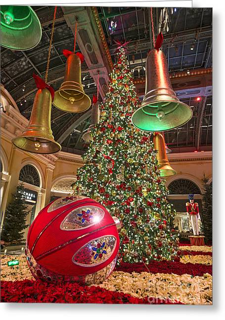 Holiday Theme Greeting Cards - The magical holiday seasonal display at the Bellagio Conservator Greeting Card by Jamie Pham