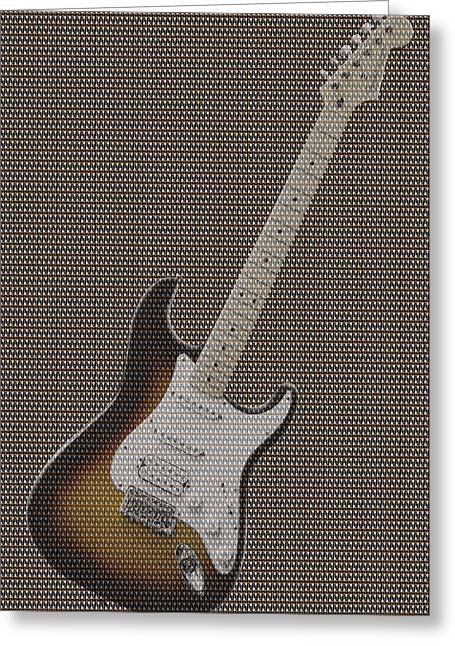Rock Digital Art Greeting Cards - 12 Thousand Electric guitars Greeting Card by Mike McGlothlen
