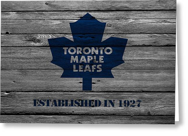 Barn Greeting Card Greeting Cards - Toronto Maple Leafs Greeting Card by Joe Hamilton
