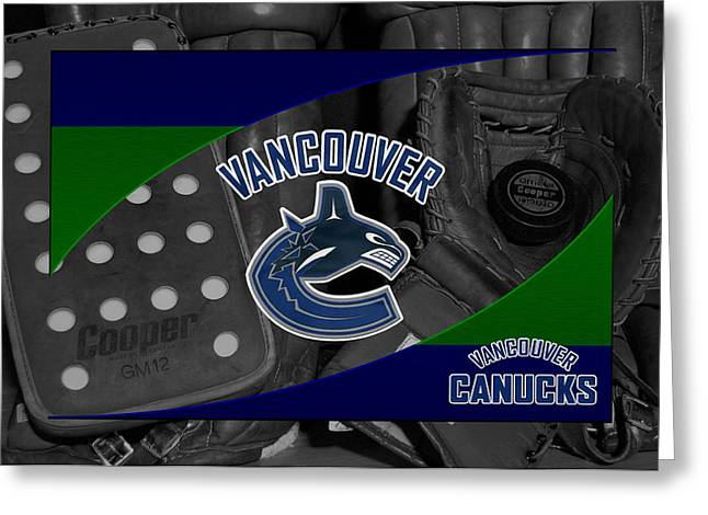 Vancouver Greeting Cards - Vancouver Canucks Greeting Card by Joe Hamilton
