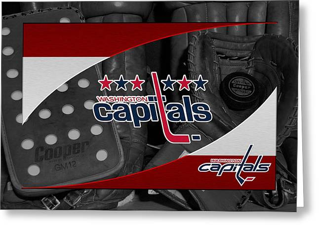 Capital Greeting Cards - Washington Capitals Greeting Card by Joe Hamilton