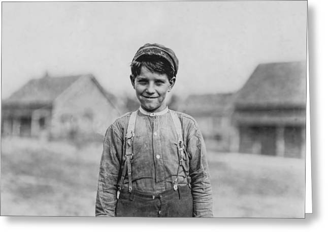 Mills Greeting Cards - 12 Year old Mill worker Greeting Card by Aged Pixel