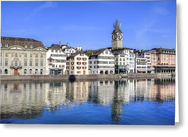 Zurich Greeting Cards - Zurich Greeting Card by Joana Kruse