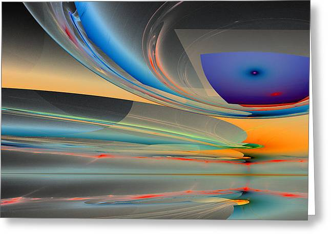 Generative Abstract Greeting Cards - 1227 Greeting Card by Lar Matre