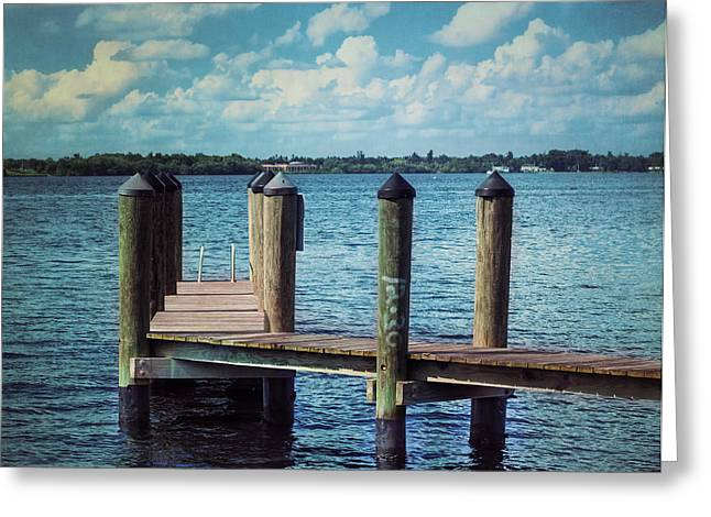 Docked Boats Greeting Cards - 12.30 Greeting Card by Kim Hojnacki