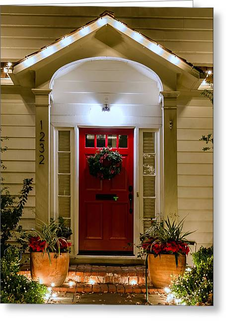 Christmas Doors Greeting Cards - 1232 Greeting Card by Mike Ronnebeck