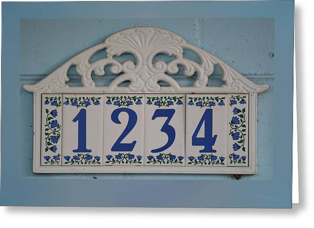 1234 Greeting Cards - 1234 House Number Greeting Card by RoyD Erickson