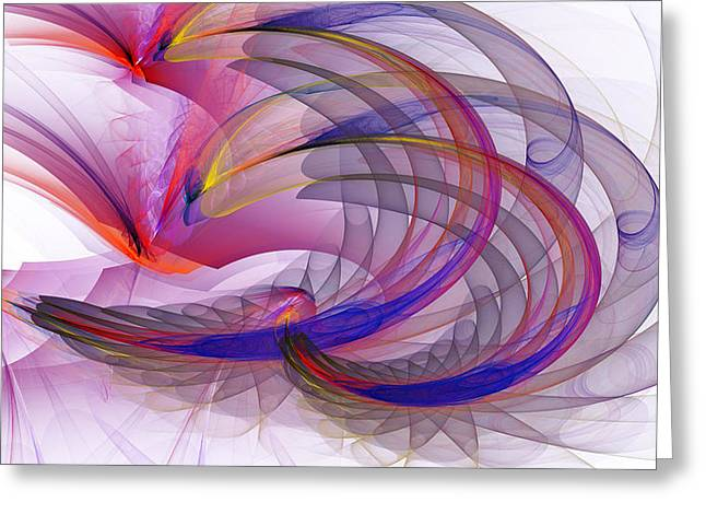 Recently Sold -  - Generative Abstract Greeting Cards - 1237 Greeting Card by Lar Matre
