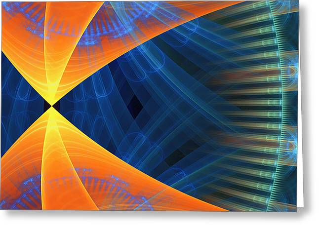 Generative Abstract Greeting Cards - 1240 Greeting Card by Lar Matre