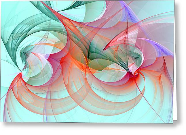 Generative Abstract Greeting Cards - 1244 Greeting Card by Lar Matre