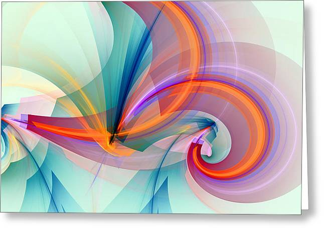 Vertical Abstract Art Greeting Cards - 1260 Greeting Card by Lar Matre