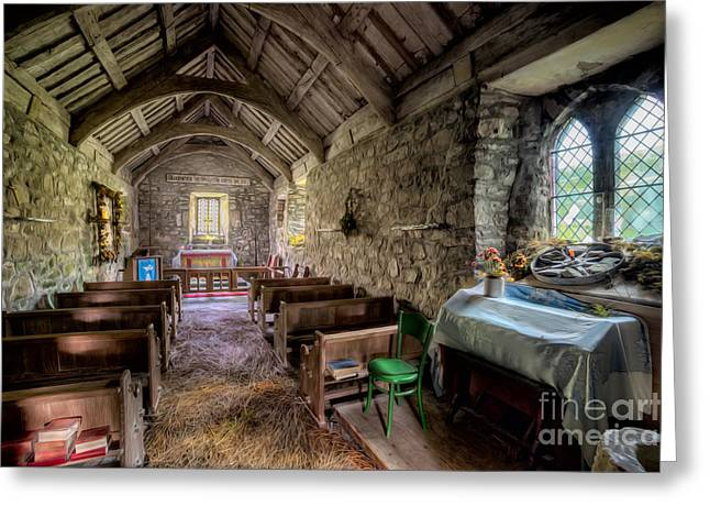 Stones Digital Art Greeting Cards - 12th Century Chapel Greeting Card by Adrian Evans