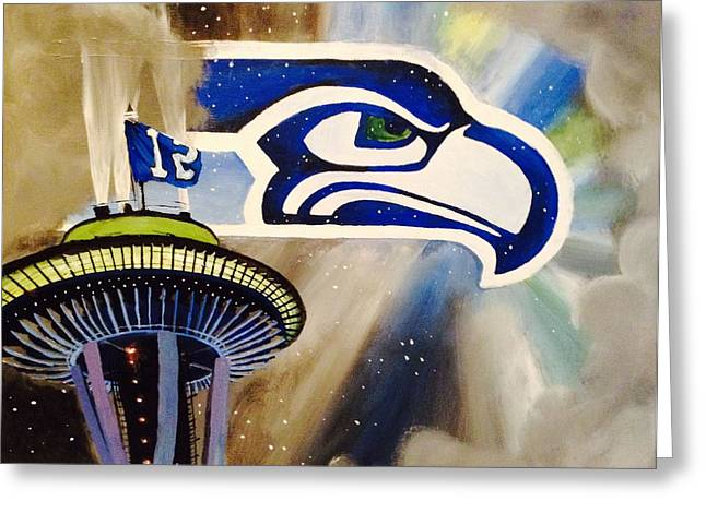 Needle Paintings Greeting Cards - 12th Man Shrine Greeting Card by Tim Loughner
