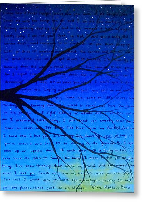 12x16 Lightened Dmb Crush Greeting Card by Michelle Eshleman