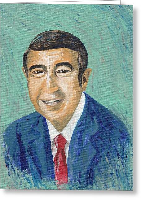 Announcer Greeting Cards - #13-31 Howard Cosell Greeting Card by Dane Tate