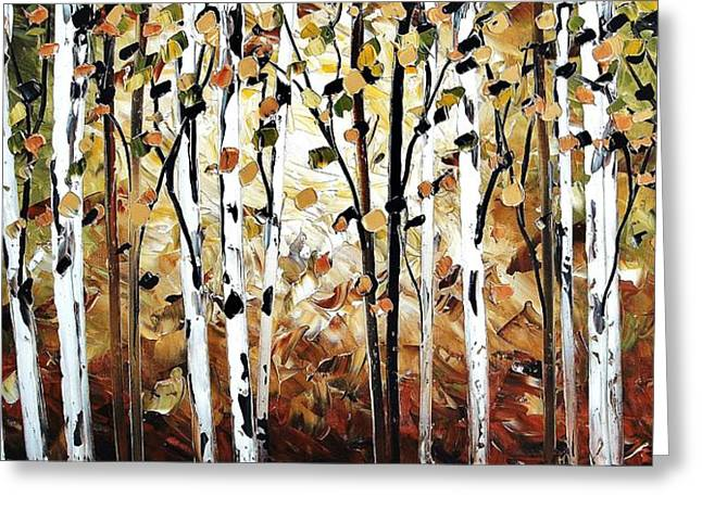 Jolina Anthony Greeting Cards - Abstract Landscape Greeting Card by Jolina Anthony