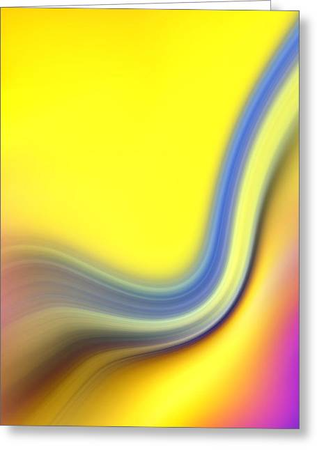 Abstract  Greeting Card by Les Cunliffe