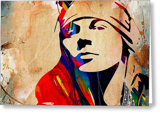 Axl Rose Greeting Cards - Axl Roxe Collection Greeting Card by Marvin Blaine
