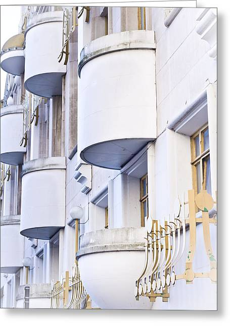 Ledge Photographs Greeting Cards - Balconies Greeting Card by Tom Gowanlock
