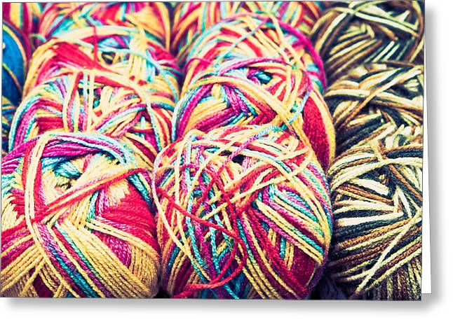 Filter Art Greeting Cards - Balls of wool Greeting Card by Tom Gowanlock