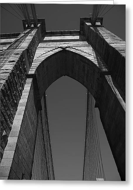 Historic Architecture Greeting Cards - Brooklyn Bridge - New York City Greeting Card by Frank Romeo