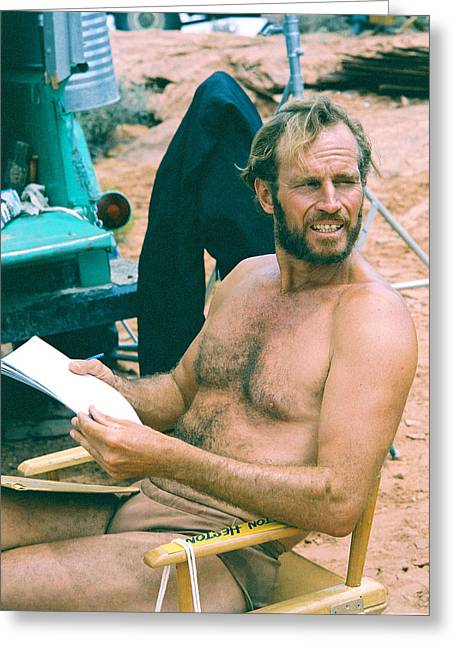 Hunk Greeting Cards - Charlton Heston in Planet of the Apes  Greeting Card by Silver Screen