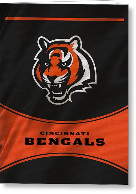 Offense Greeting Cards - Cincinnati Bengals Uniform Greeting Card by Joe Hamilton