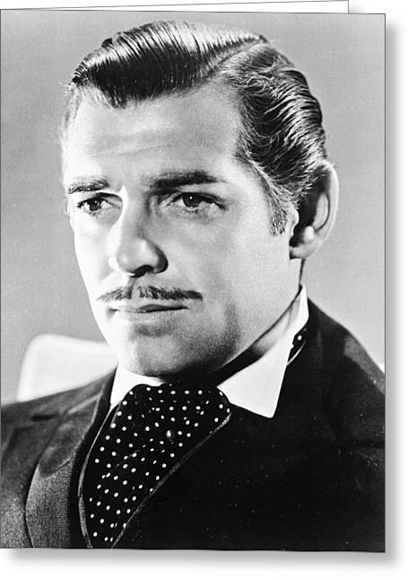 Clark Greeting Cards - Clark Gable Greeting Card by Silver Screen