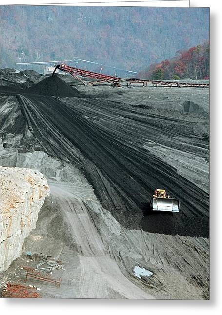 Coal Sludge Dam Greeting Card by Jim West