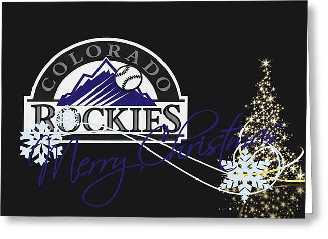 Presents Greeting Cards - Colorado Rockies Greeting Card by Joe Hamilton