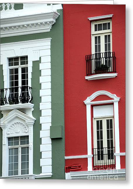 Historic Home Greeting Cards - Colorful Old San Juan Greeting Card by Birgit Tyrrell