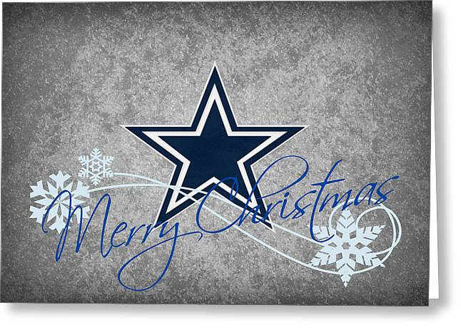 Offense Greeting Cards - Dallas Cowboys Greeting Card by Joe Hamilton