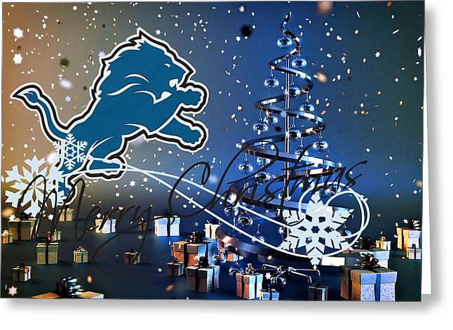Offense Greeting Cards - Detroit Lions Greeting Card by Joe Hamilton