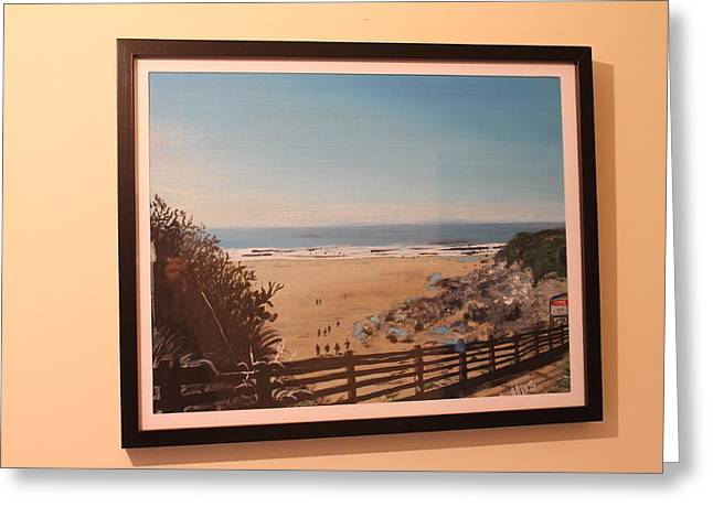 Surfing Photos Greeting Cards - Devon beach  Greeting Card by James Collins